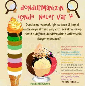 Yaz Aylarının Vazgeçilmezi Dondurma Besin Bülteni